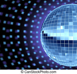 Dance Party - Dance party DJ culture with a disco mirror...