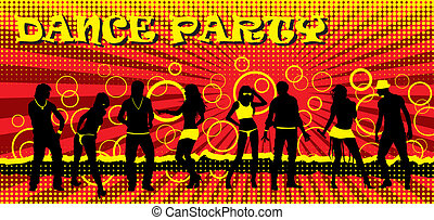 Dance party ticket of different color