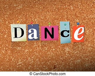 Dance Pinned Paper Concept Illustration