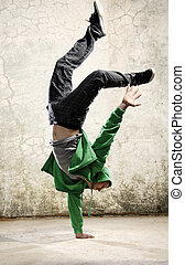 Dance strength - One hand handstand hip hop dancer