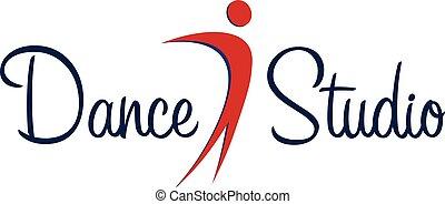 Dance studio logo. Dancer logotype. Vector minimalistic.