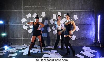 Dance team.