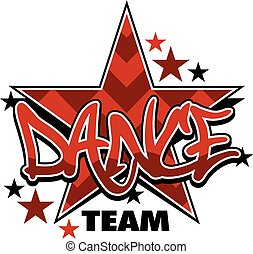 dance team - chevron dance team design with stars