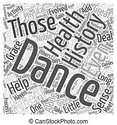 Dance to Your Health Word Cloud Concept