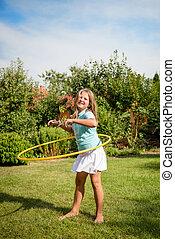 Dance with hoop