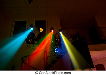 Dancefloor, disco lights, party time
