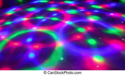 dancefloor, dyskoteka, podłoga, światła, tło, koło, ...