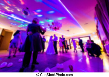 Dancefloor, party concept with dancing people