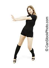 Dancer at motion