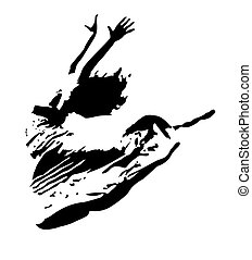 Dancer - Girl flying in a dance move
