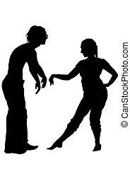Dancer couple in love