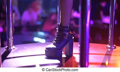 Dancer girl in night club