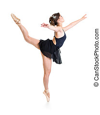 dancer girl isolated on white