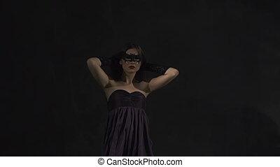 Dancer Girl Moves - Sexy beautiful dancer girl wears black...