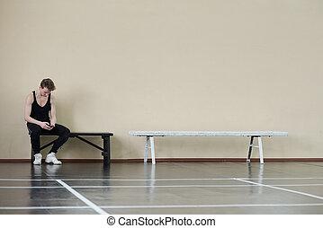 Dancer Having Break