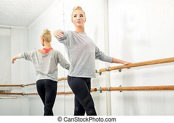 dancer in ballet class