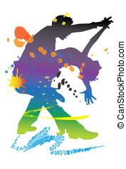 dancer music - art, man, rock, girl, body, rumba, disco,...
