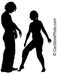 Dancer people in love