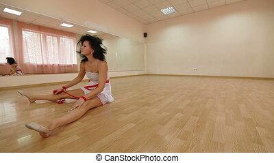 Dancer practicing modern dance