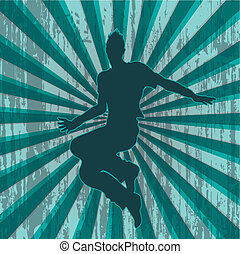 dancer silhouette with grungy back