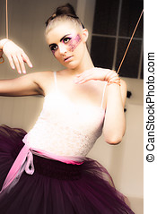 Dancer - Glamour Beauty Fashion Dancer In Style Makeup In A...