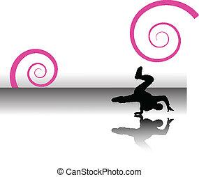 dancer swirls