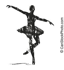 dancer - abstract silhouette of a dancer