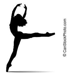 dancer vector silhouette