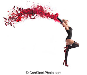 Dancer with paint