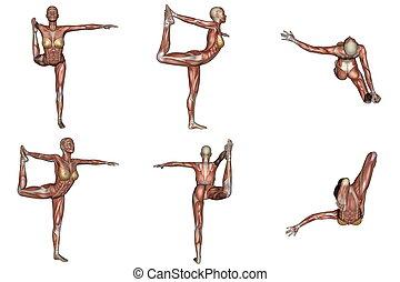 yoga pose dancer line art abstract dancer yoga pose