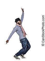 dancerman - Full length portrait of a modern african...