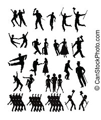 dancers collection in silhouette - large collection of...
