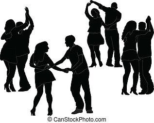 dancers collection - vector - illustration of dancers...