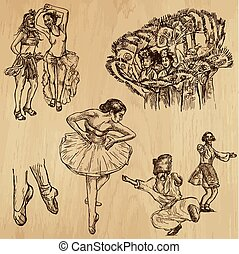 Dancers - hand drawing