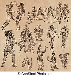 Dancers - Hand drawn vector pack