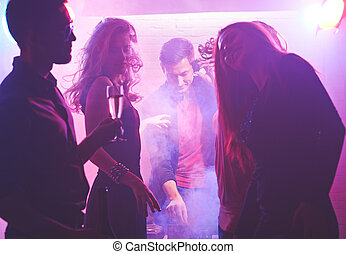 Dancers in nightclub