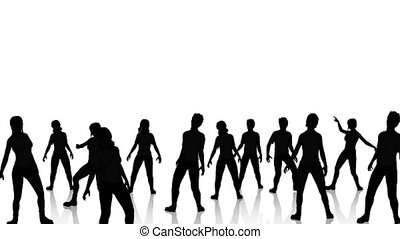 Dancers Silhouette 2