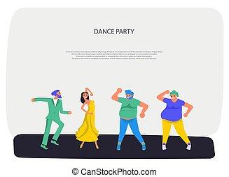 dancing, anders, mensen