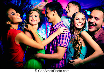 Dancing at disco