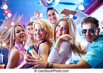Dancing at party