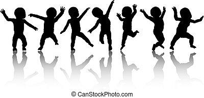 Dancing babies - Silhouettes of dancing babies