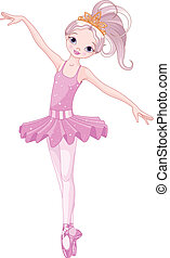 Dancing ballerina - Illustration of beautiful ballerina...