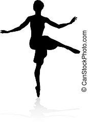 Dancing Ballet Dancer Silhouette