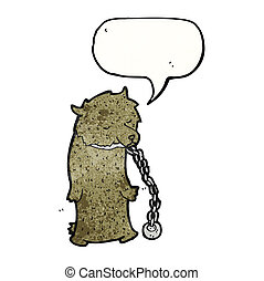 dancing bear chained