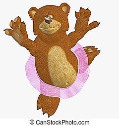 dancing bear - 3d