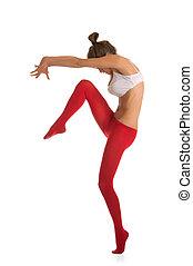 Dancing beautiful young woman