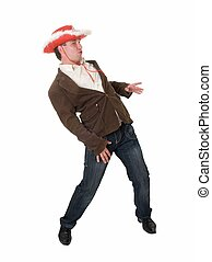 dancing boy with red hat