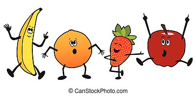 Dancing Cartoon Fruit