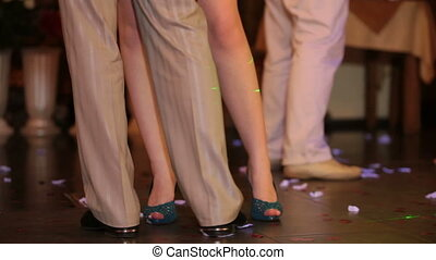 dancing couple feet