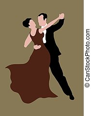 Dancing couple - Illustrated couple dancing